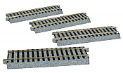 Kato Unitrack 2140 - HO Straight Sections - 4-7/8 inches (123mm)(4/pkg)