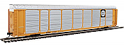Walthers Proto 101416 - HO 89ft Thrall Enclosed Tri-Level Auto Carrier - BNSF #303085