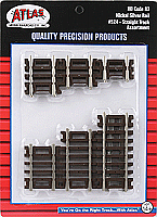 Atlas Model Railroad 524 HO Code 83 Snap Track - Straight Sections - 10-Piece Assortment