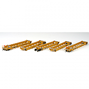 Athearn 95033 - HO RTR Maxi I Well Car/Early - TT/SP #73147 (Set 3) (5)