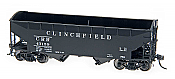 Intermountain Railway 47154-02 HO AAR Alternate Standard 2-Bay Hoppers w/Arch End  - Clinchfield 47123