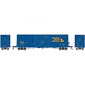 Athearn Genesis HO - G69377 50 ft PC&F SS Box w/14 ft Plug Door - Golden West Service #136081