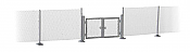 Walthers SceneMaster 4188 HO Scale - Metal Industrial Fence (Scale Model) - Kit