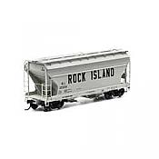 Athearn RTR 93994 - HO ACF 2970 Covered Hopper - Rock Island #12369