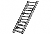 Plastruct 90441 N scale ABS 2 in Stair (2pcs pkg)
