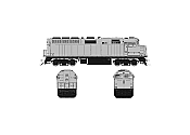 Rapido 083631 HO Scale EMD F40PH Ph3, ESU LokSound DCC, Undecorated