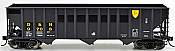 Bowser 42376 - HO RTR 100 Ton 3-Bay Open Hopper - D&H ex Reading #9712