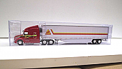 Trucks n Stuff TNS109 - HO Peterbilt 579 Sleeper-Cab Tractor - 53ft Reefer Trailer - Decker