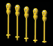 Hi-Tech Details 8005 HO Parking Meter pkg(14) - Yellow