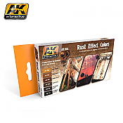 AK Interactive 551 - Rust Effect Colors - 6 Bottles - 17ml each
