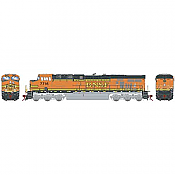 Athearn G83130 HO Scale ES44DC - w/DCC & Sound- Burlington Northern Santa Fe, Faded H1 #7717 Pre-Order
