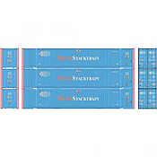 Athearn 26677 HO - RTR 53Ft Jindo Container, PACU (3pkg)