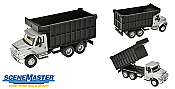 Walthers SceneMaster 11677 - HO International(R) 7600 Dual-Axle Coal Truck - Assembled - Silver Cab, Black Box