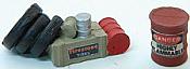 JL Innovative Design 439 HO Custom Gas Station Junk Pile & Hazardous Material Barrel - Set #2
