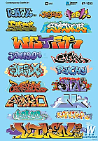 Microscale 871533 HO Scale- Graffiti Decal Set - Contemporary Graffiti Set 1