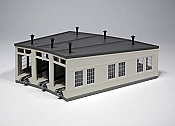 Kato 23-240 N Scale Three-Stall Concrete Roundhouse - kit