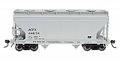 Intermountain Railway 46518-12 HO Scale ACF Center Flow Hopper ACFX Plain Gray #44869