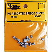 Micro Engineering 80035 - HO Assorted Bridge Shoes (16pcs)