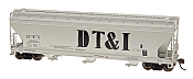Intermountain Railway 47071-02 HO ACF 4650 Cubic Foot 3-Bay Hopper - Detroit, Toledo and Ironton - DT&I - #10314