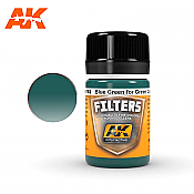 AK Interactive 4162 Light Green Filter Enamel Paint 35ml Blue Green