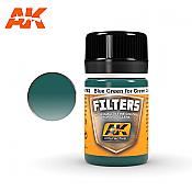 AK Interactive 4162 Light Green Filter Enamel Paint 35ml Blue Green