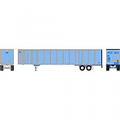 Athearn RTR 72785 - HO 53ft Wabash Plate Trailer - Owner Operator #3 #532773