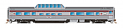 Rapido Trains 550108 - N Skyline Mid-Train Dome Coach - Canadian Pacific, Maroon