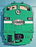 Stoddarts Ltd. 4053 - 3D Railroad Wall Artwork - New York Central - Jade - E8 #4053