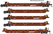 WalthersMainline 55621 HO - Thrall 5-Unit Rebuilt 40 Ft Well Car - Ready to Run - BNSF Railway #238158 A-E