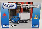 Sylvan Scale Models 340 HO Scale - 1956/72 IHC-190 Tandem Reefer Van - Unpainted and Resin Cast Kit