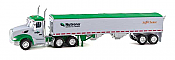 Trucks n Stuff TNS079 HO Peterbilt 579 Day-Cab Tractor w/Grain Trailer - Nutrena-Safe Choice