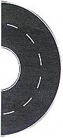 Busch 9711 HO Flexible Self Adhesive Paved 2-Lane Semicircle