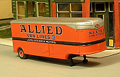 Sylvan Scale Models 007-2 HO Scale - 1941-46 32Ft Fruehauf Aerovan w/ Allied Decals - Unpainted and Resin Cast Kit