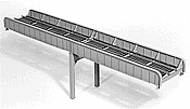 Micro Engineering HO Scale 75522 Thru Girder Bridge 100 Ft Single Track