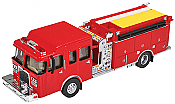 Walthers SceneMaster 13800 HO - Heavy-Duty Fire Dept. Engine - Assembled- Red