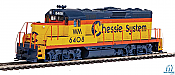 Walthers Mainline 20416 - HO EMD GP9 Phase 2 w/Chopped Nose - DCC/Sound - Chessie System #6408