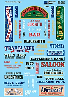 Microscale 87162 HO Scale - Structure Signs - Western Cowtown - Waterslide Decal