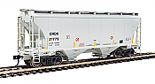 Walthers 7533 HO Scale - 39Ft Trinity 3281 2-Bay Covered Hopper - Chicago Freight Car Leasing CRDX #21779