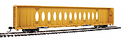 WalthersMainline 4832 HO - 72Ft Centerbeam Flatcar with Opera Windows - Ready to Run - Trailer-Train TTZX #86369