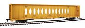 WalthersMainline 4833 HO - 72Ft Centerbeam Flatcar with Opera Windows - Ready to Run - Trailer-Train TTZX #86366