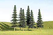 Bachmann SceneScapes 32104 - N Layout-Ready Trees - Spruce Trees (9/pkg)