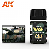 AK Interactive 075 NATO Vehicle Wash Enamel Paint 35ml