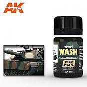 AK Interactive 075 NATO Vehicle Wash Enamel Paint 35ml