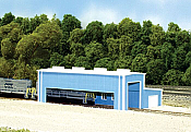 Pikestuff 8008 - N Scale Atkinson Engine Facility (Scale: 40 x 80ft) - Blue