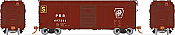 Rapido 123006 HO Scale - PRR X31A Single-Door Boxcar: Plain Keystone - Stores Department (3 pack)