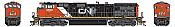 Athearn G31609 HO Scale - G2 Dash 9-44CWL Diesel, DCC & Sound - CN #2520