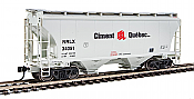 Walthers 7545 HO Scale - 39Ft Trinity 3281 2-Bay Covered Hopper - NorRail Ciment Quebec Inc. NRLX #34051