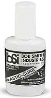 Bob Smith Industries 105 - Plastic-Cure Brush-On Gap Filling Cyanoacrylate Glue (.5oz)