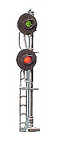 Tomar Industries 859 HO Searchlight Signal - Double-Head