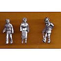 Juneco Scale Models C-102 - Woman, Young Man and Old Man Walking - 3 Unpainted Figures